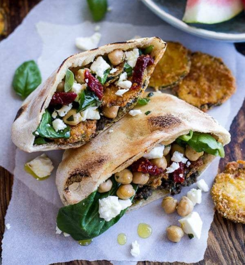 Greek-Olive-Pesto-and-Fried-Zucchini-Grilled-Pitas-w-Marinated-Feta-+-Garbanzo-Beans.-15